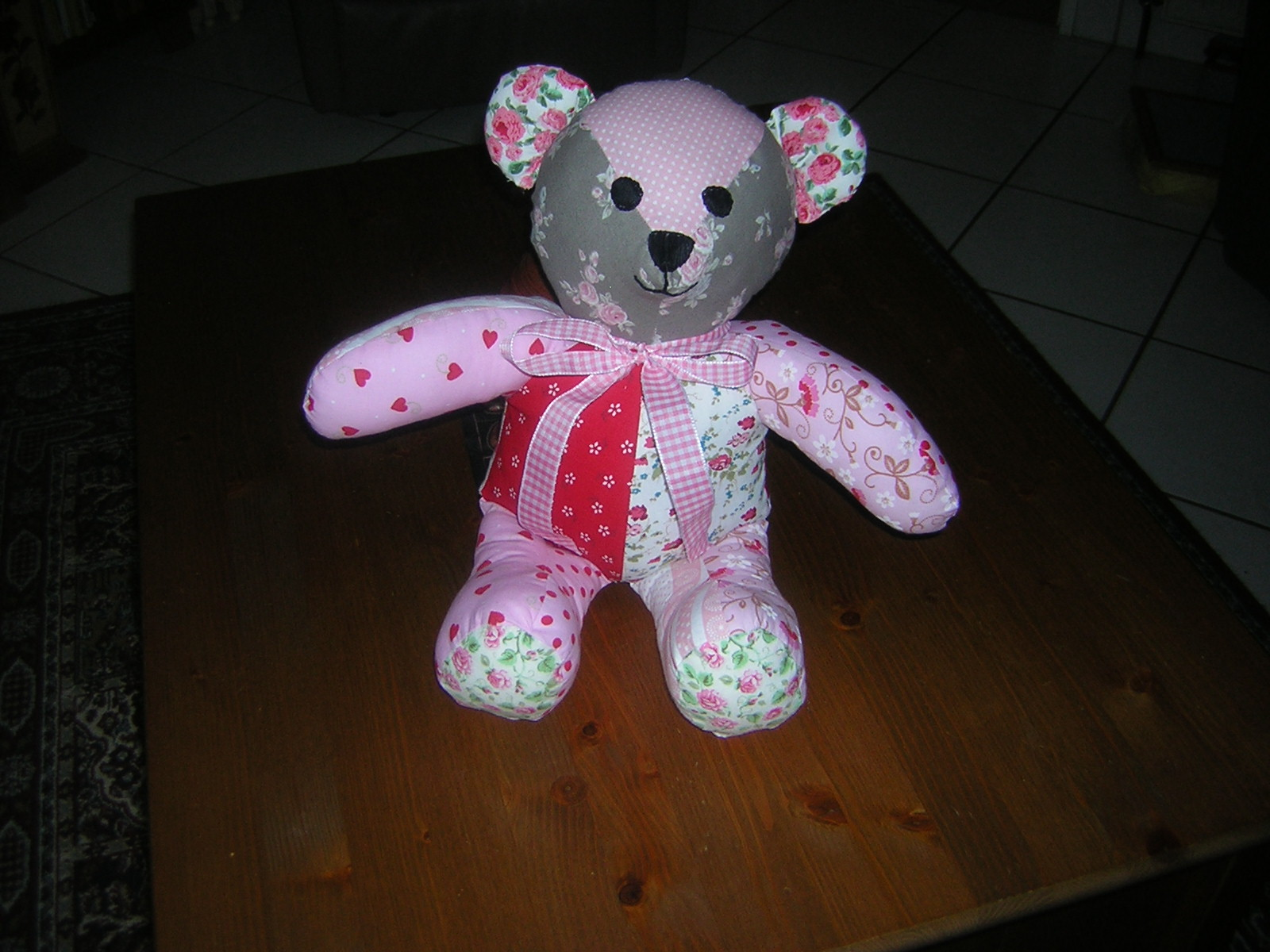 First attempt patchwork teddy different pattern from rosie bear quite jeuxipadfo Images